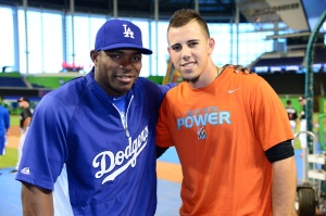 Yasiel Puig and Jose Fernandez. (Robert Vigon/Miami Marlins)