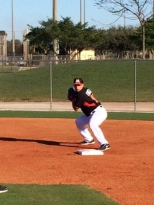 Rafael Furcal getting early work making the turn at second base.