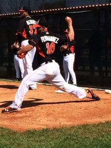 Jose Fernandez threw an impressive bullpen session on Tuesday.