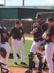 Jarrod Saltalamacchia can keep his beard as part of relaxed team policy.