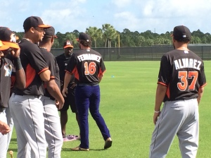 Saltalamacchia even grabbed one of Fernandez's jerseys.