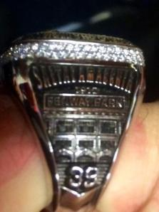 Jarrod Saltalamacchia was presented with his World Series ring on Sunday.