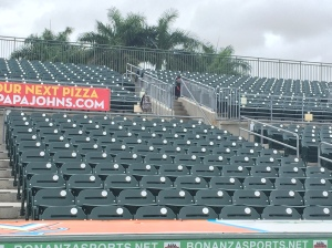 New seats at Roger Dean Stadium.