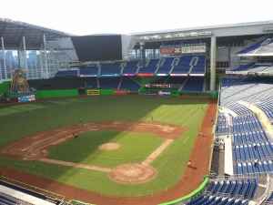 Marlins considering moving in fences, possibly from in front of HR Sculpture to 392 foot sign in right.